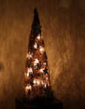 De decoratie van Kerstmis in een huis   Stock Afbeeldingen