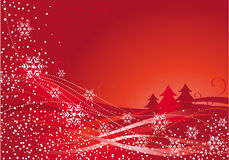 De decoratie van Kerstmis en rode boom Stock Foto's