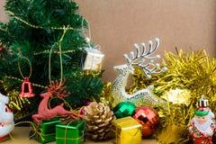 De decoratie van Kerstmis en van het Nieuwjaar stock afbeelding