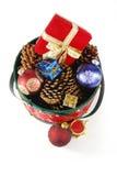 De decoratie van Kerstmis het kijken royalty-vrije stock fotografie
