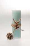 De decoratie van Kerstmis Kaars met een kabel Royalty-vrije Stock Fotografie