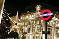 De Decoratie van Kerstmis in Londen Royalty-vrije Stock Foto