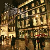 De Decoratie van Kerstmis in Londen Royalty-vrije Stock Foto's
