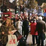 De Decoratie van Kerstmis in Londen Stock Foto