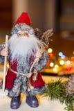 De decoratie van Kerstmis met de Kerstman Royalty-vrije Stock Afbeeldingen