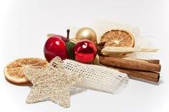 De decoratie van Kerstmis met een appel Stock Fotografie