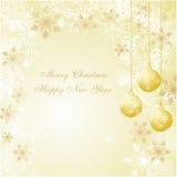 De decoratie van Kerstmis met een mooie achtergrond Royalty-vrije Stock Foto's