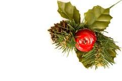 De decoratie van Kerstmis met exemplaarruimte Royalty-vrije Stock Fotografie