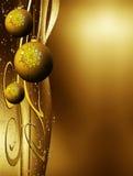 De decoratie van Kerstmis met exemplaarruimte Stock Afbeeldingen
