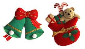 De decoratie van Kerstmis met het knippen van weg Stock Foto