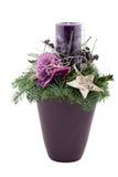 De decoratie van Kerstmis met kaars Royalty-vrije Stock Fotografie