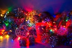 De decoratie van Kerstmis met kaarsen Royalty-vrije Stock Fotografie