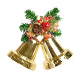 De decoratie van Kerstmis met klokken Royalty-vrije Stock Fotografie