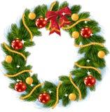 De decoratie van Kerstmis met rode boog stock illustratie