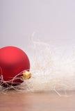 De decoratie van Kerstmis met snuisterij Royalty-vrije Stock Foto