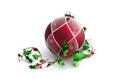 De decoratie van Kerstmis met vrije ruimte Royalty-vrije Stock Foto