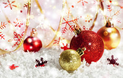 De decoratie van Kerstmis Nieuw jaar Stock Afbeeldingen