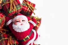 De decoratie van Kerstmis op abstracte achtergrond vrolijke Kerstmis en gelukkige nieuwe jarenachtergrond Kaartidee Stock Fotografie