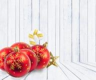 De decoratie van Kerstmis op abstracte achtergrond vrolijke Kerstmis en gelukkige nieuwe jarenachtergrond Kaartidee Stock Afbeeldingen