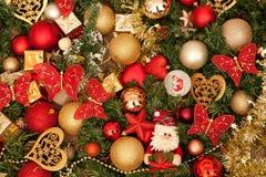 De decoratie van Kerstmis op blauw Stock Fotografie