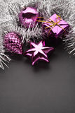De decoratie van Kerstmis op blauw Royalty-vrije Stock Foto's