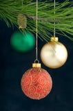 De Decoratie van Kerstmis op een boom royalty-vrije stock fotografie