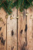 De decoratie van Kerstmis op houten lijst Royalty-vrije Stock Foto