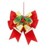 De Decoratie van Kerstmis op Wit Stock Afbeelding