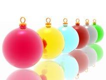 De decoratie van Kerstmis op witte achtergrond Stock Foto's