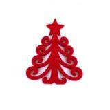 De decoratie van Kerstmis op witte achtergrond Royalty-vrije Stock Afbeeldingen
