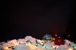 De decoratie van Kerstmis op zwarte achtergrond stock foto