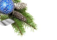 De decoratie van Kerstmis over wit Stock Afbeelding
