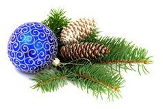 De decoratie van Kerstmis over wit Royalty-vrije Stock Foto