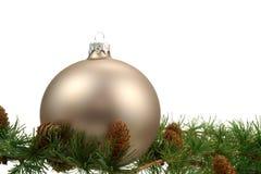 De decoratie van Kerstmis over witte achtergrond Stock Foto's