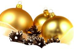 De decoratie van Kerstmis over witte achtergrond Royalty-vrije Stock Foto's