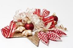 De decoratie van Kerstmis in rood Royalty-vrije Stock Afbeelding