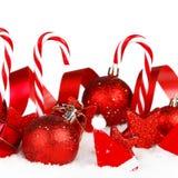 De decoratie van Kerstmis in sneeuw Stock Foto's