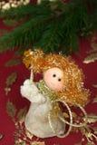 De decoratie van Kerstmis van de engel Royalty-vrije Stock Foto