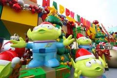 De decoratie van Kerstmis van Toy Story in Hongkong stock foto