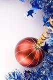 De Decoratie van Kerstmis + voegt Tekst toe Royalty-vrije Stock Fotografie