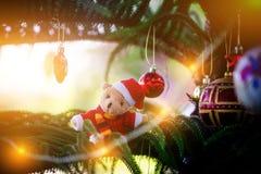 De decoratie van Kerstmis Vrolijke Kerstmis en Gelukkig Nieuwjaar royalty-vrije stock afbeeldingen