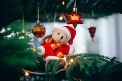 De decoratie van Kerstmis Vrolijke Kerstmis en Gelukkig Nieuwjaar royalty-vrije stock afbeelding