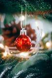 De decoratie van Kerstmis Vrolijke Kerstmis en Gelukkig Nieuwjaar royalty-vrije stock foto