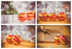 De decoratie van Kerstmisballen Stock Afbeelding