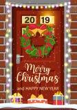 De decoratie van de Kerstmisdeur royalty-vrije illustratie