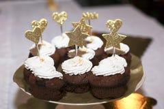 De Decoratie van Kerstmiskoekjes Royalty-vrije Stock Foto's
