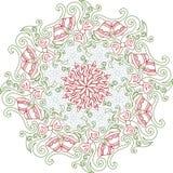 De decoratie van Kerstmismandala Royalty-vrije Stock Foto's