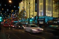 De decoratie van de Kerstmisstraat op de Straat van Oxford in centraal Londen, Royalty-vrije Stock Afbeeldingen