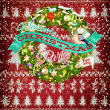 De decoratie van nieuwjaarkerstmis Eps 10 Royalty-vrije Stock Afbeelding
