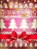 De decoratie van nieuwjaarkerstmis Eps 10 Stock Foto